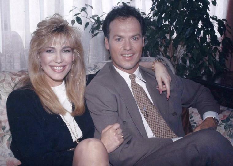 Leeza Gibbons and Michael Keaton