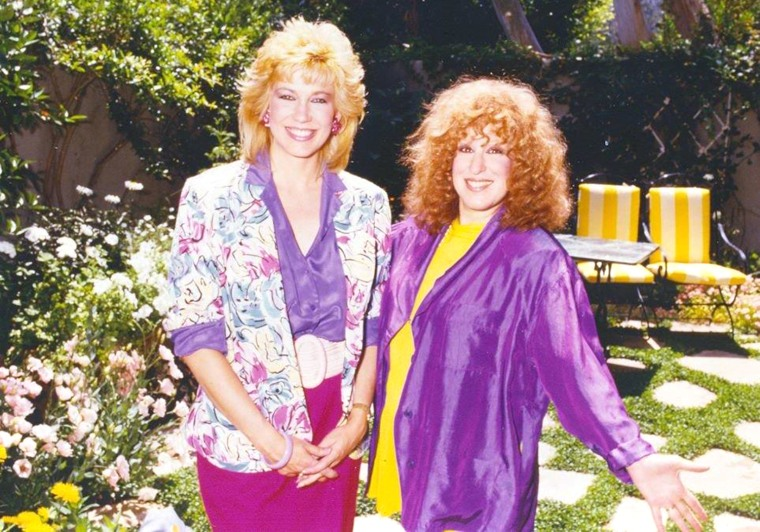 Leeza Gibbons and Bette Midler
