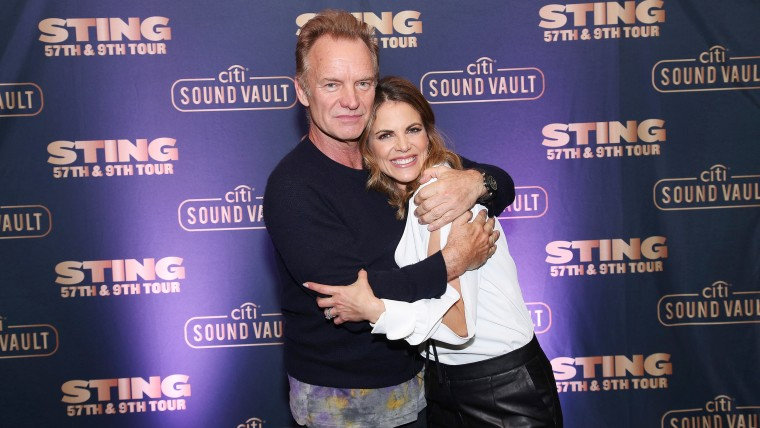 Natalie Morales and Sting