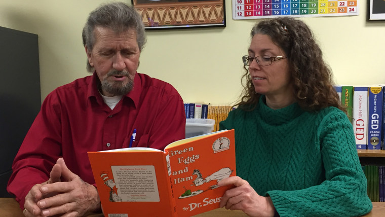 When Ralph Burns first read this Dr. Seuss book, it took him six hours. He now can finish it in less than 15 minutes, says his tutor, Sydney Osborne.