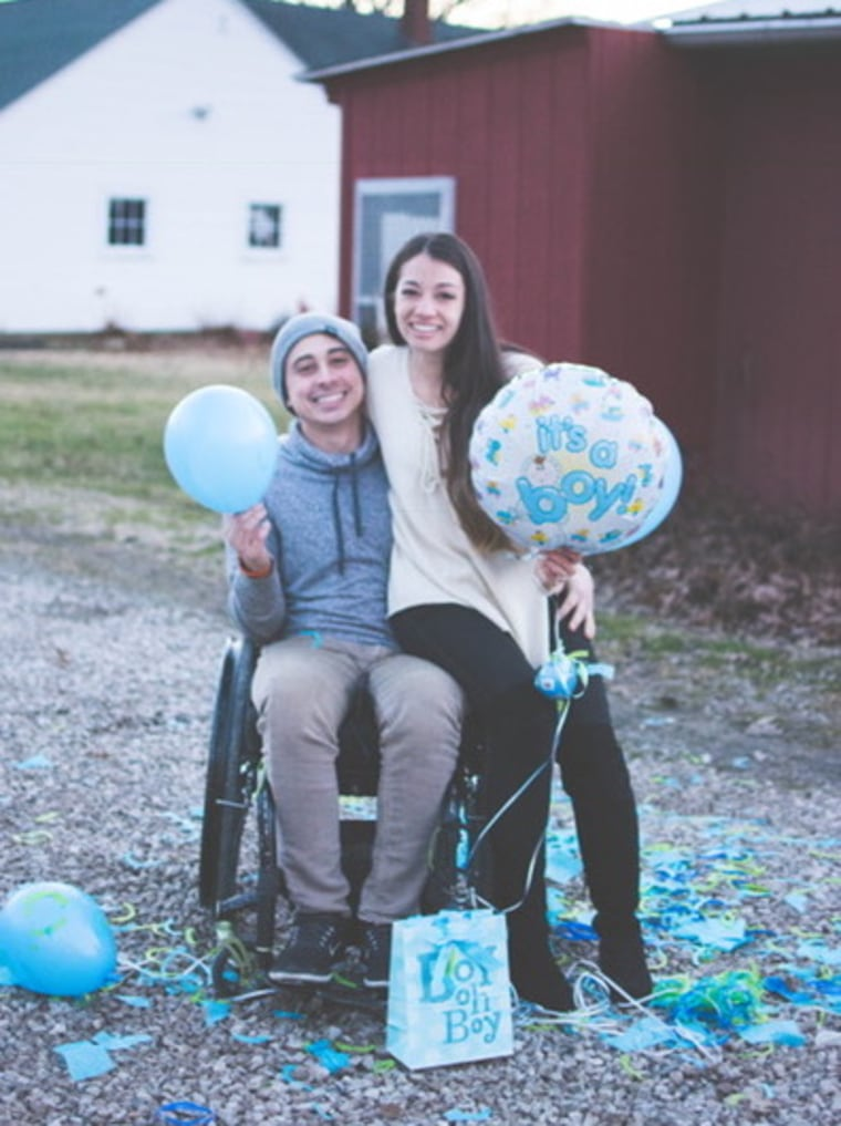 Since their engagement and pregnancy announcement, the couple has learned they are expecting a boy.