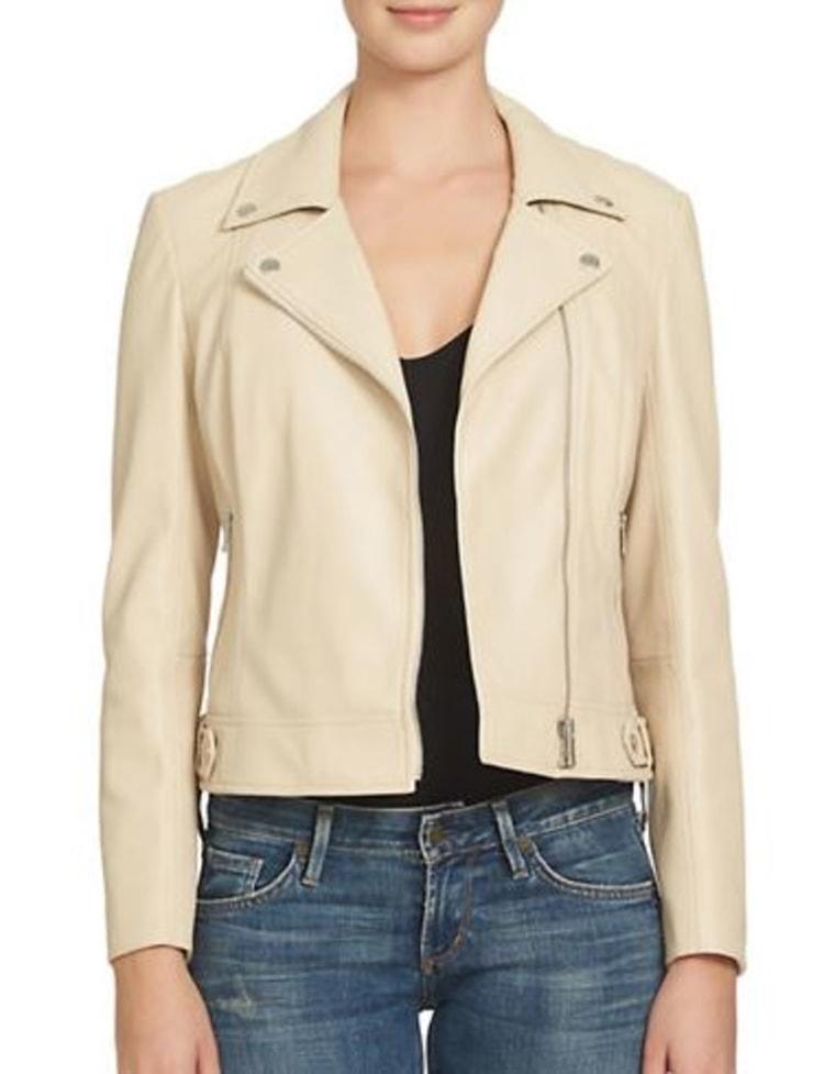 Leatherette Moto Jacket