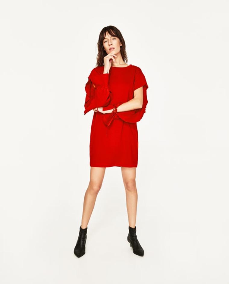 Zara dress with frill sleeve