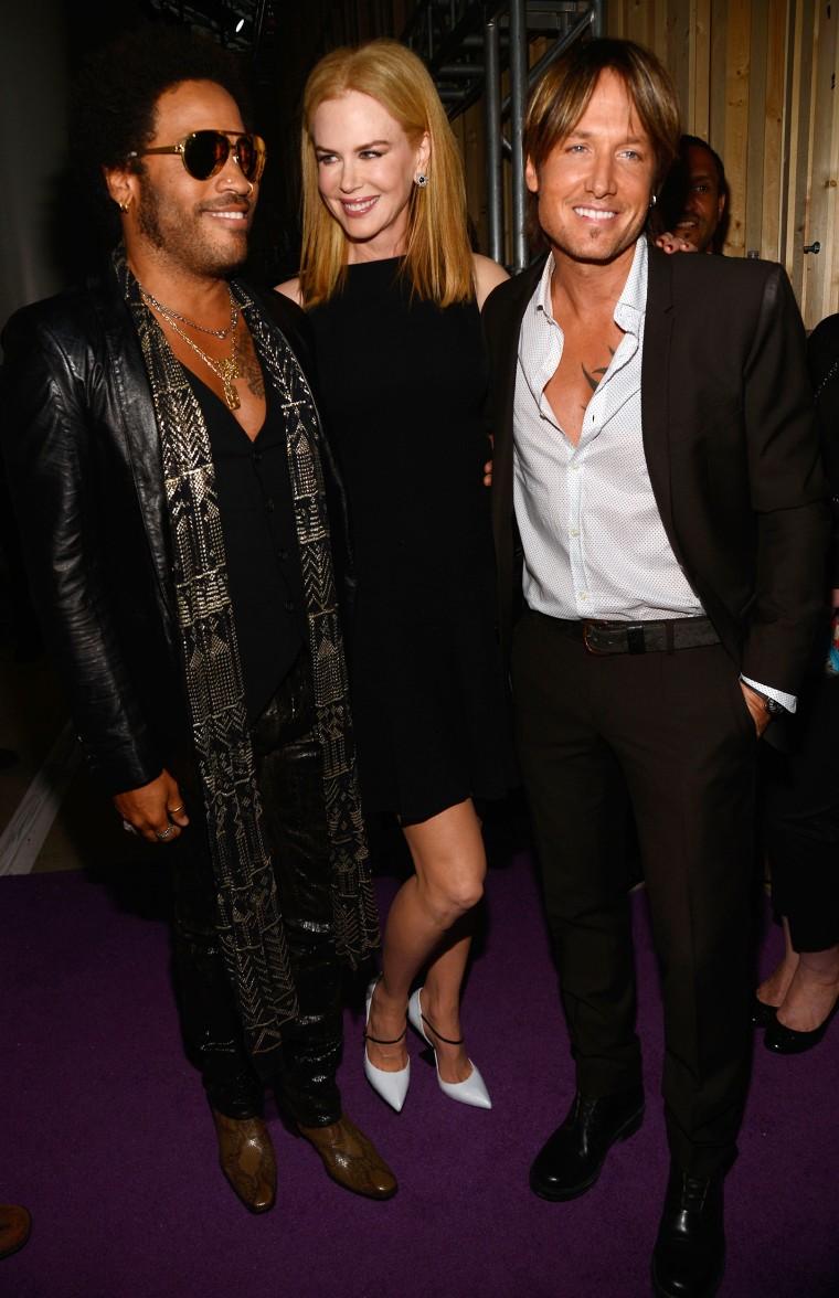 Lenny Kravitz, Nicole Kidman and Keith Urban