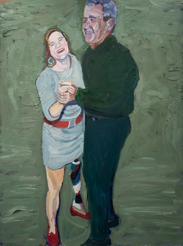The former president's painting of the dance he shared with veteran Melissa Stockwell.