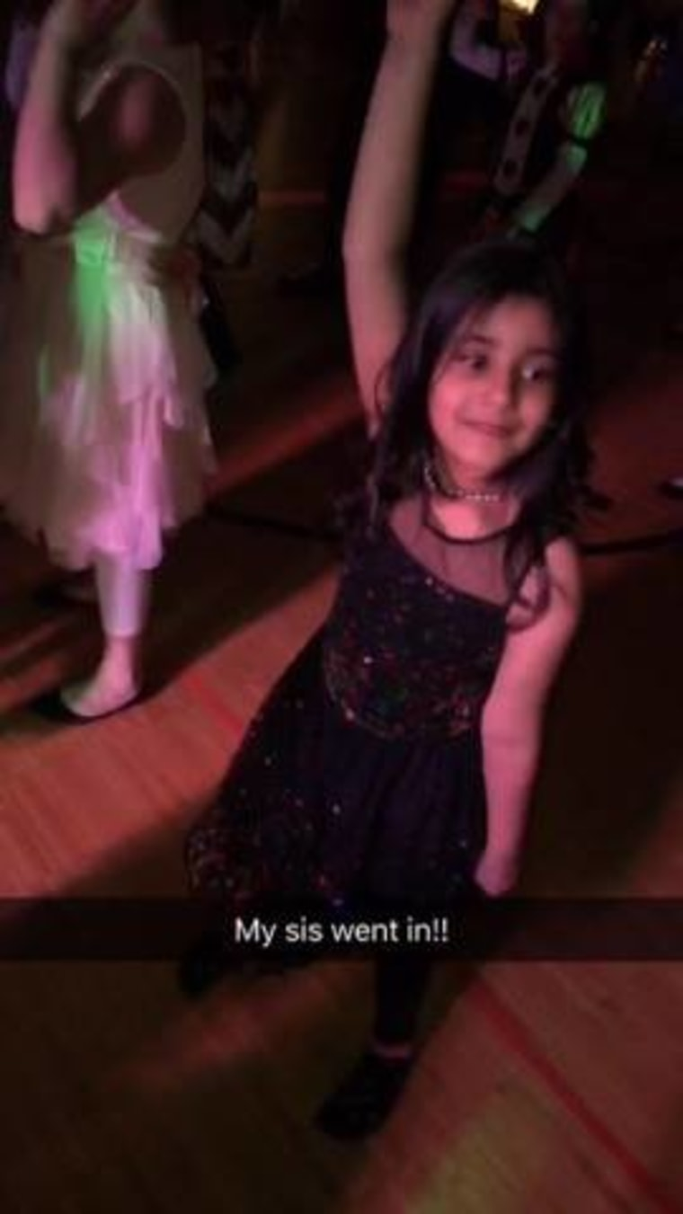 Mohammad Hasher takes his little sister to school's father-daughter dance.