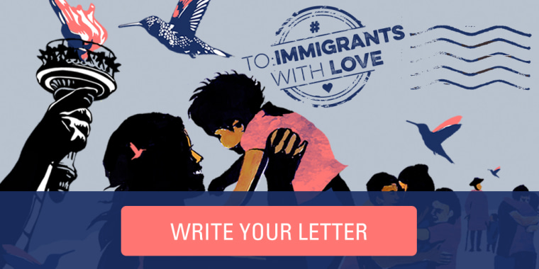 Artwork by Jess X. Snow and Roger Peet for the #ToImmigrantsWithLove campaign.