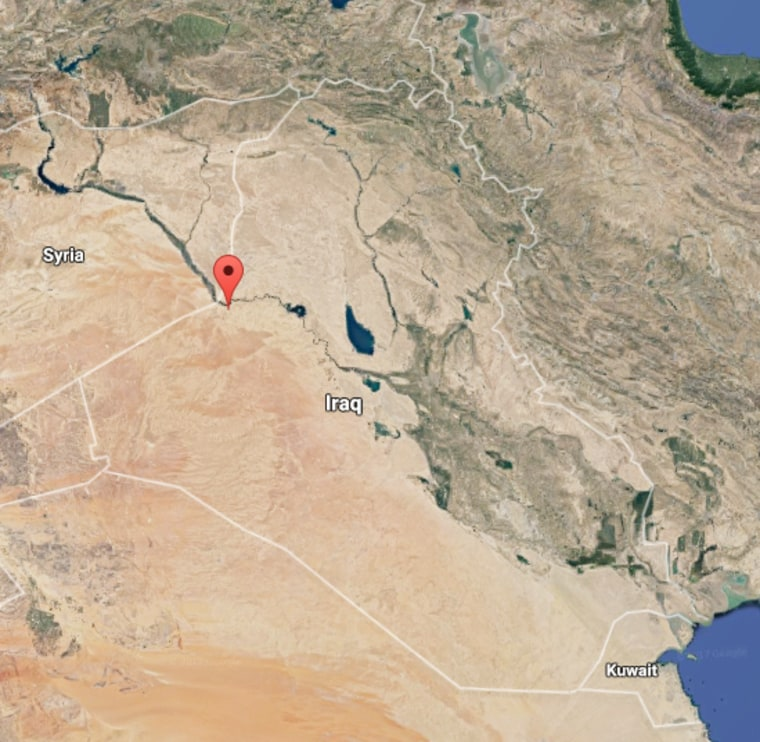 Image: A map showing the location of Qa'im, Iraq