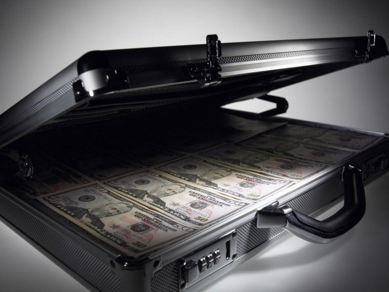 Image: Briefcase full of cash