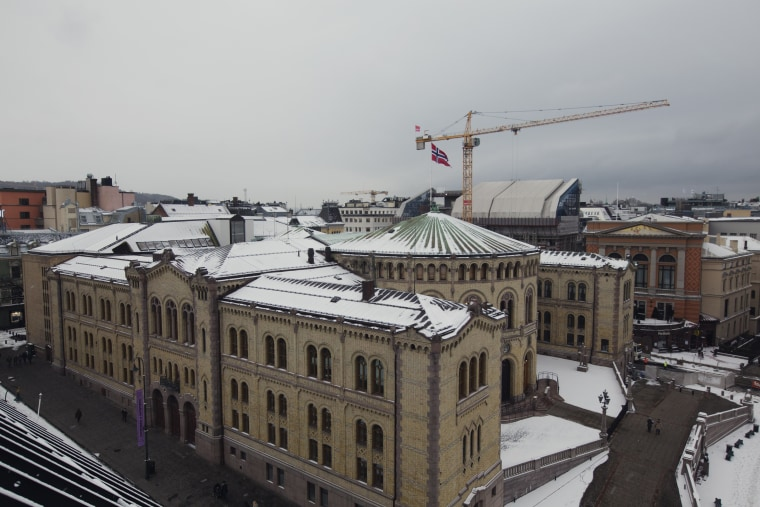 Image: The Parliament building in Oslo