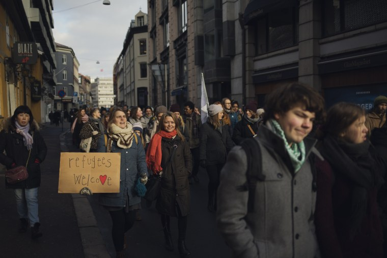 Image: Demonstration in Oslo