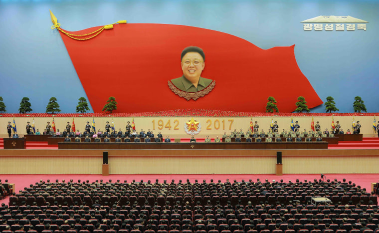 Image: North Korean leader Kim Jong-un celebrate the 75th birth anniversary of late leader Kim Jong Il, known as the Day of the Shining Star