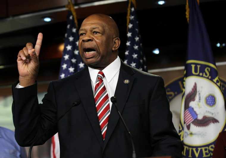 Image: Rep. Elijah Cummings (D-MD) speaks during a news conference July 20