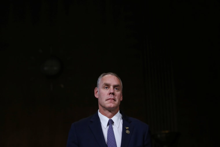 Image: U.S. Rep. Ryan Zinke testifies before a Senate Energy and Natural Resources Committee confirmation hearing on his nomination to be Interior Secretary at Capitol Hill in Washington