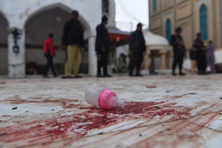 Image: Aftermath of Lal Shahbaz Qalandar attack
