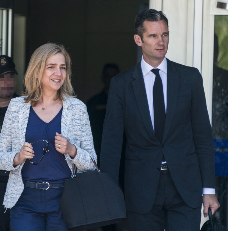 Image: Princess Cristina and husband Inaki Urdangarin
