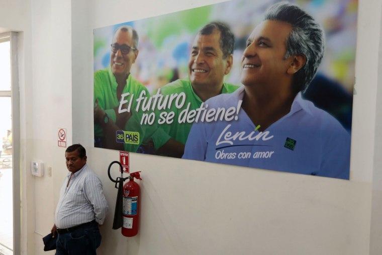 Image: ECUADOR-ELECTIONS-CAMPAIGN