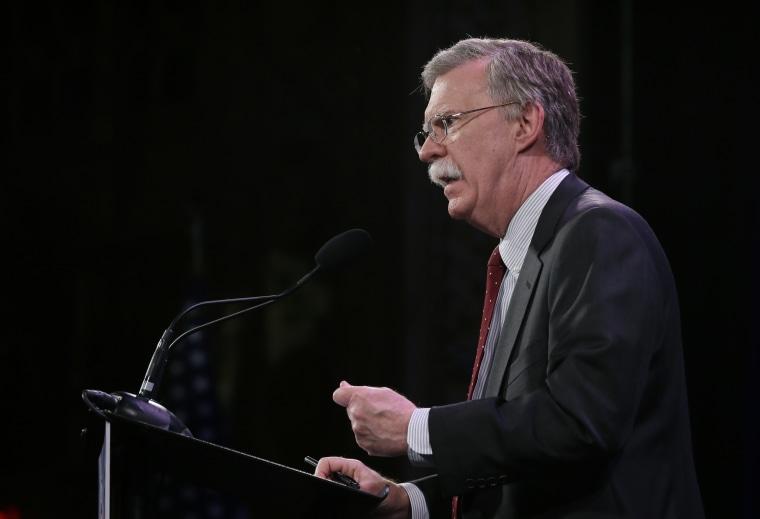 Image: Former U.N. Ambassador John Bolton speaks during the Freedom Summit, Jan. 24, 2015, in Des Moines, Iowa.