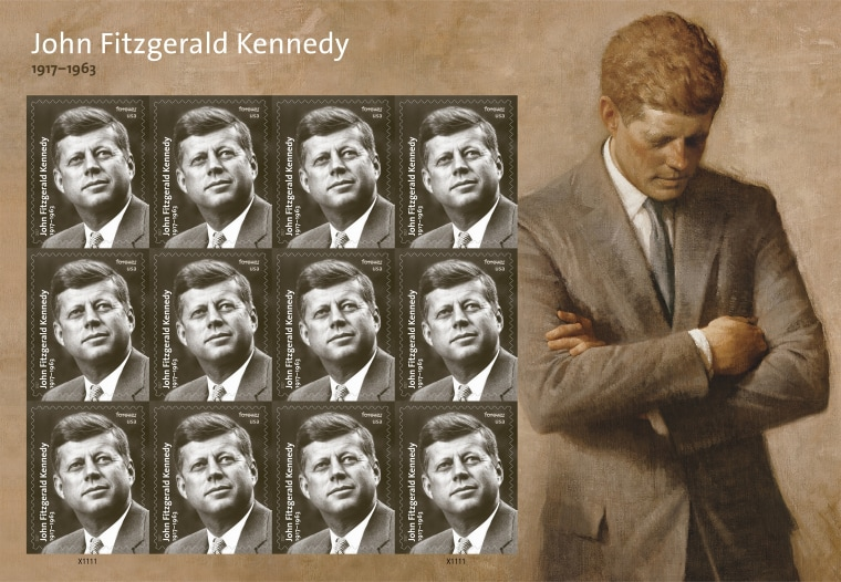 John F Kennedy Commemorated On New Postal Stamp