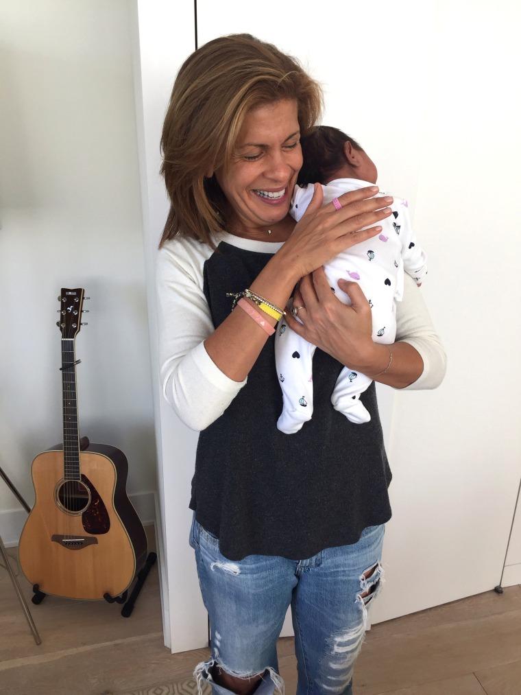 Hoda and baby Haley Joy