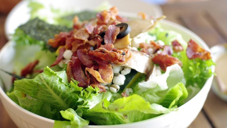 Boston lettuce and bacon vinaigrette