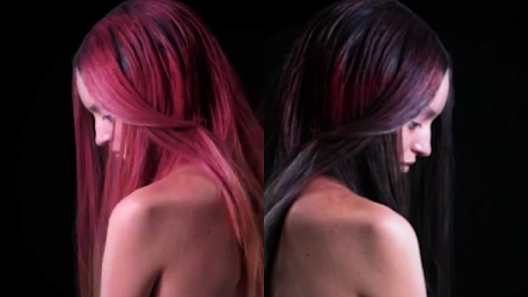The Unseen Fire hair dye changes with temperature and environment