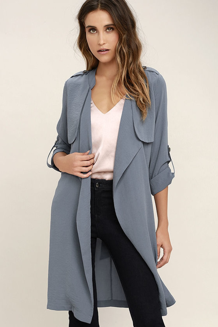 Slate Blue Trench