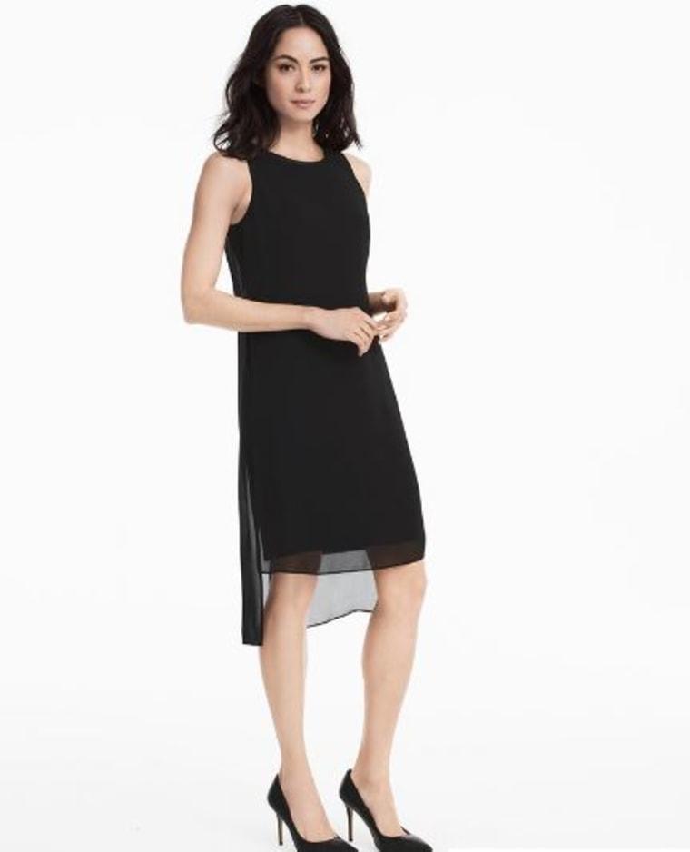 Black Woven Overlay Dress