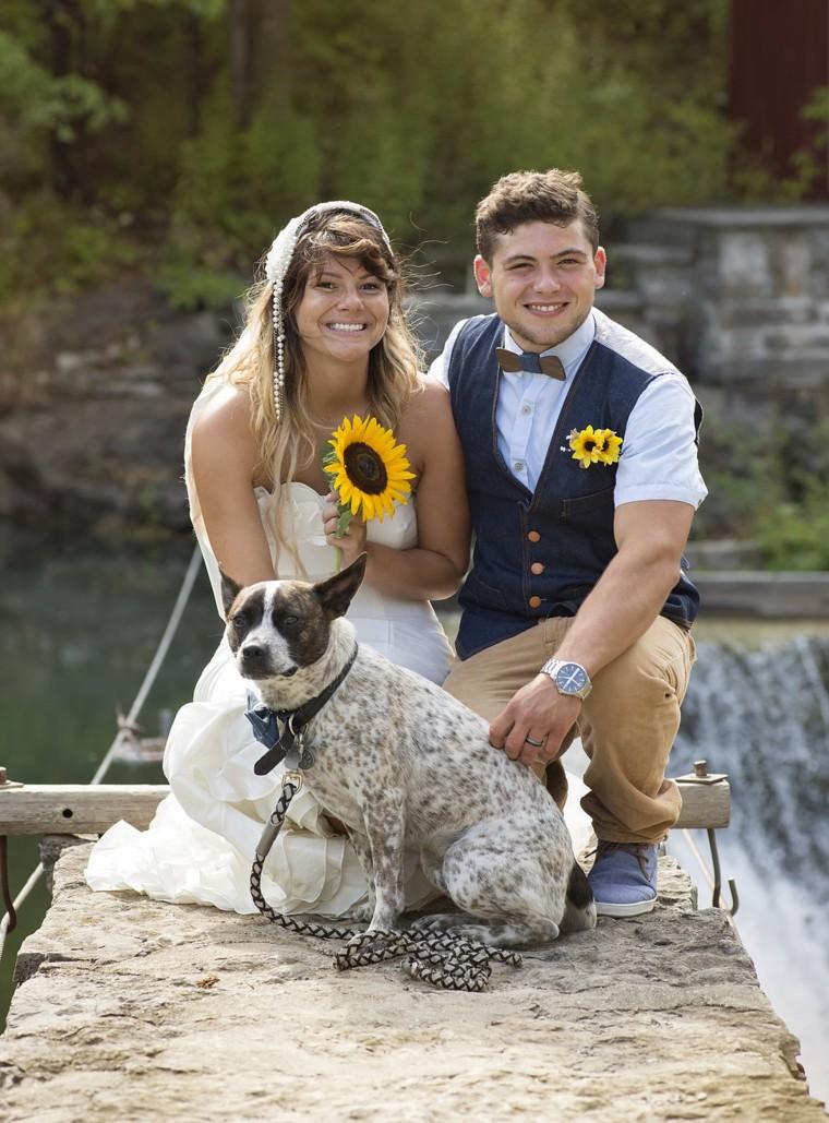 Amanda Scott and husband Brett Murdough tied the knot in July 2016.