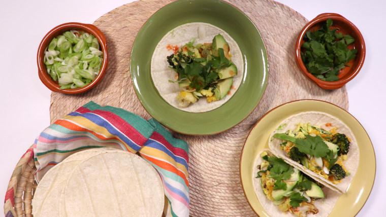 Leftover Vegetable Breakfast Taco