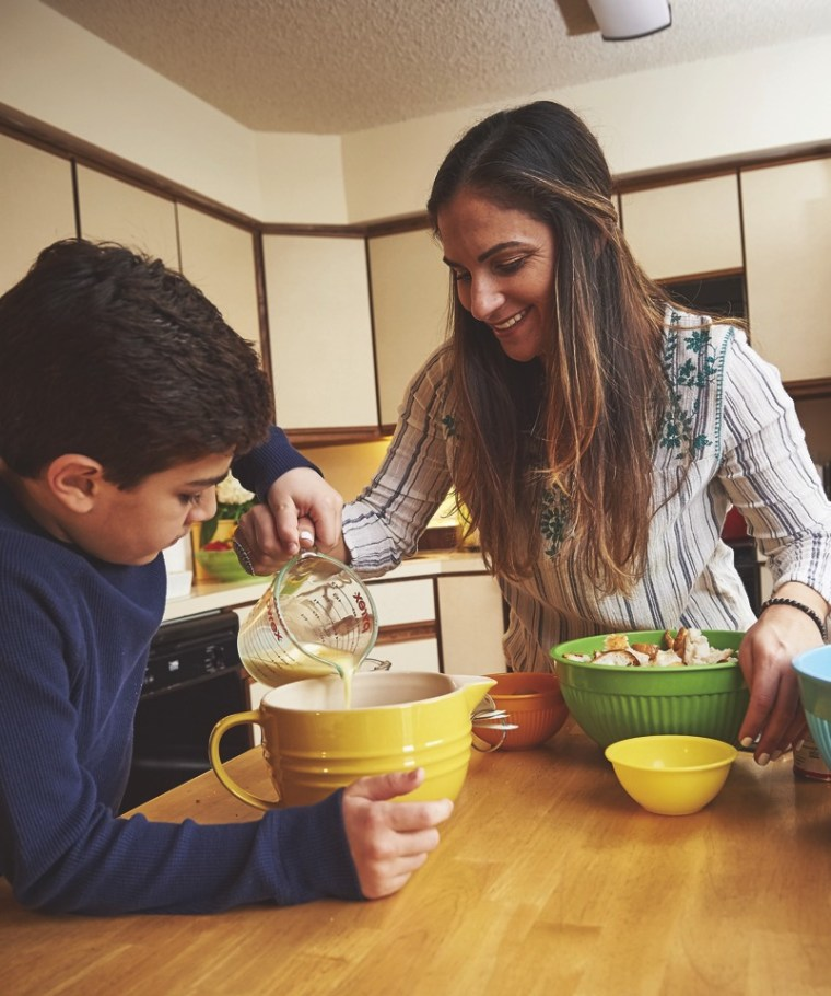 Cooking with Leo author Erica Daniels with son Leo