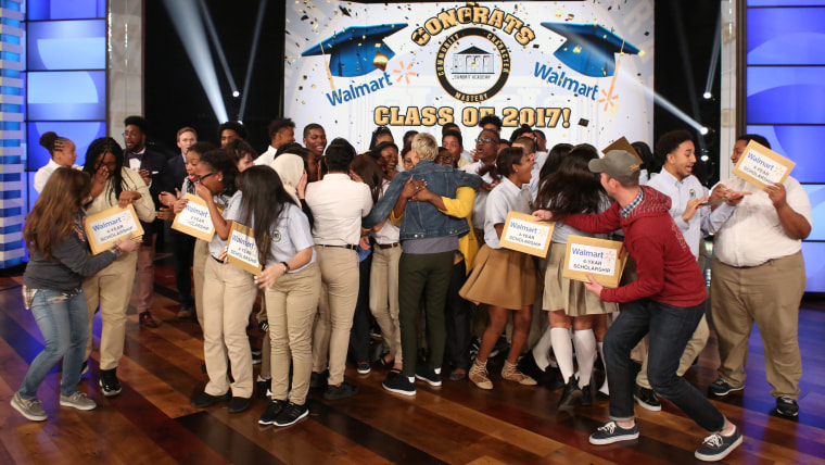 The students at Brooklyn's Summit Academy Charter School on the Ellen DeGeneres show