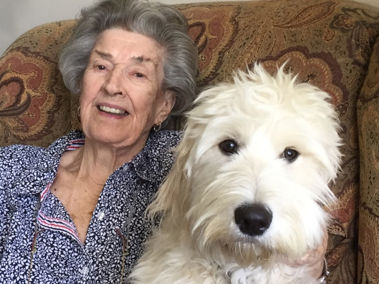 Jean Oddi and her dog, Lucy.
