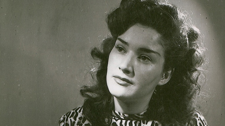 """Jean Oddi, the """"Queen of Sass,"""" in a picture of her as a young woman."""