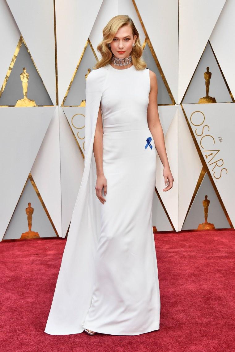 Karlie Kloss on the Oscars red carpet