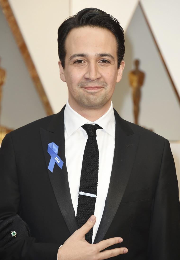 Lin-Manuel Miranda on the Oscars red carpet