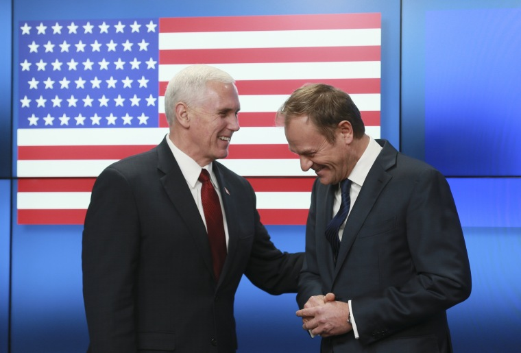 Image: US Vice President Mike Pence in Brussels