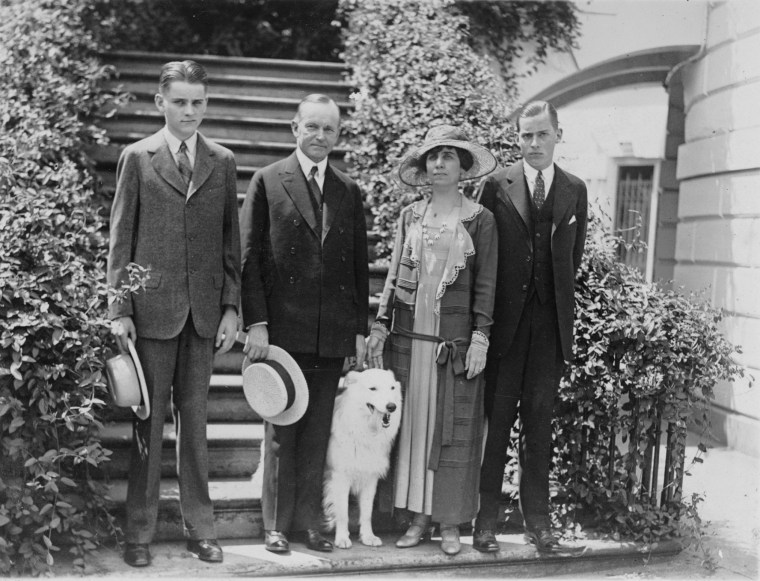 Image: Rob Roy, a white collie, was just like a member of the family to Calvin Coolidge
