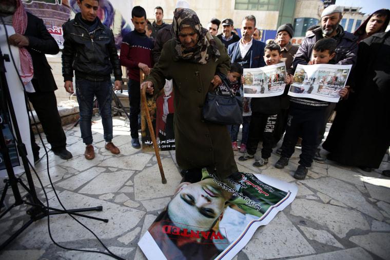 Image: Palestinians protest after sentencing Israeli soldier Elor Azaria