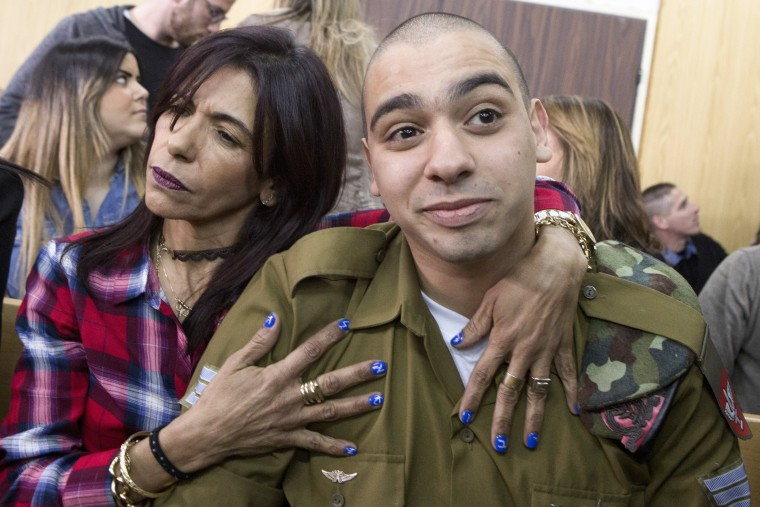 Image: Elor Azaria and his mother