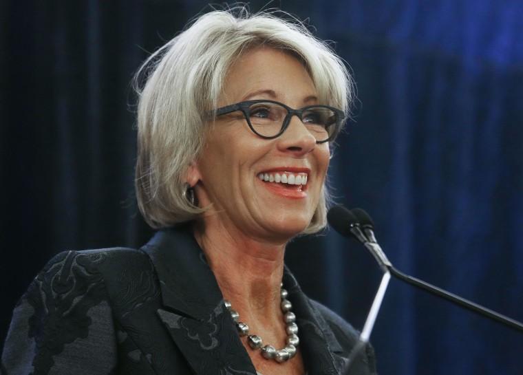 Image: Education Secretary Betsy DeVos