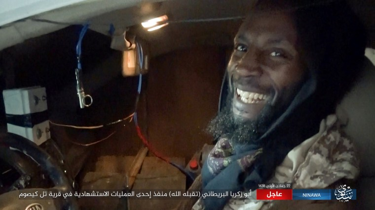 Image: ISIS released this image of Abu Zakariya Al-Britani