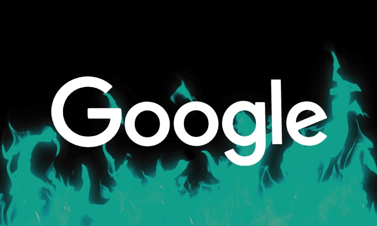 Google Burning man logo.