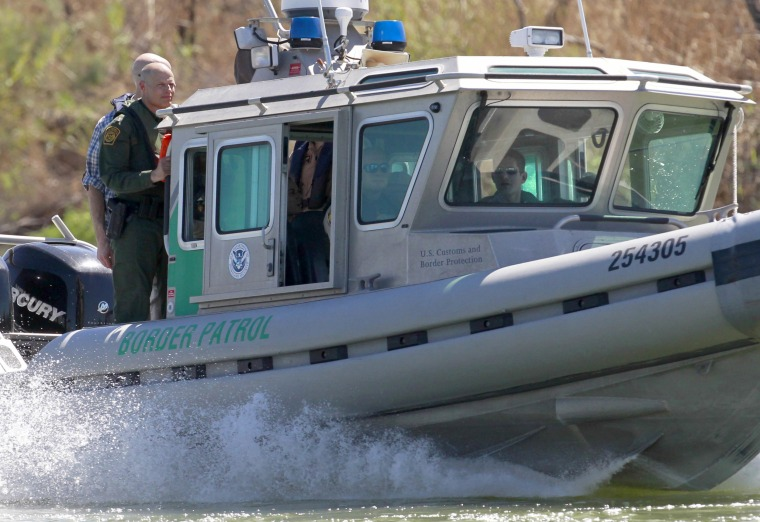 Image: A U.S. Customs and Border Protection boat carrying U.S. Speaker of the House Paul Ryan travels down the Rio Grande, Feb. 22, 2017 south of Mission, Texas.