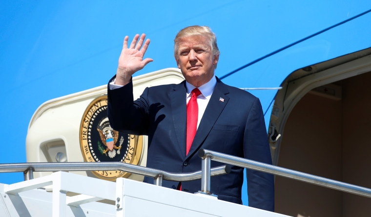 Image: U.S. President Donald Trump arrives to tour the Boeing South Carolina facility in North Charleston