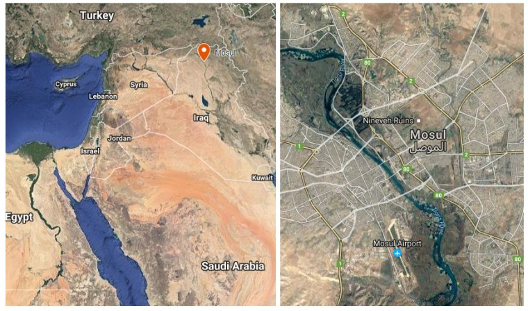 Image: A map of Mosul Airport