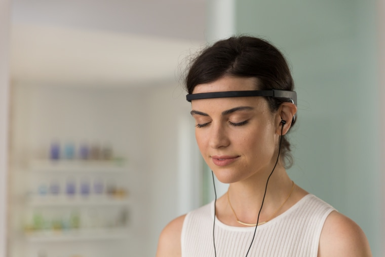 The Muse headband measures whether your brain is calm or active during meditation, offering up louder and stronger sounds to prompt you back to a calmer state.