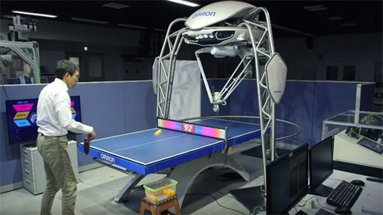 "The robot, called FORPHEUS, was named the ""first robot table tennis tutor"" for its ability to play and teach the sport."