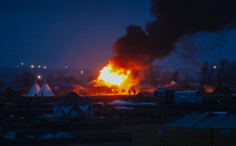 Image: Deadline Looms For Standing Rock Dakota Access Pipeline Protesters To Vacate Camp