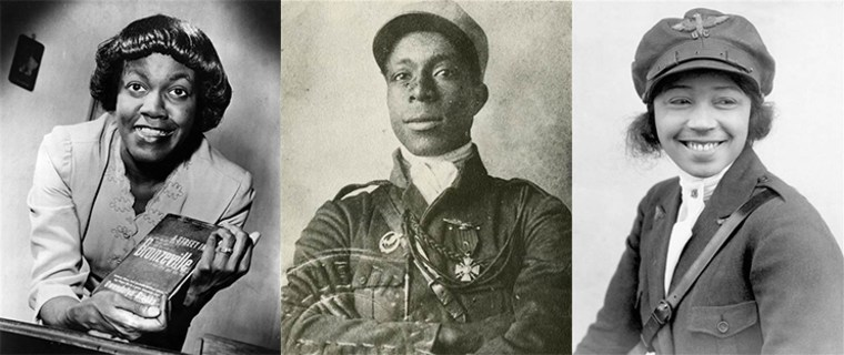 Gwendolyn Brooks, Eugene Bullard and Bessie Coleman